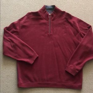 Tommy Bahama Maroon Quarter zip sweater. Size XL